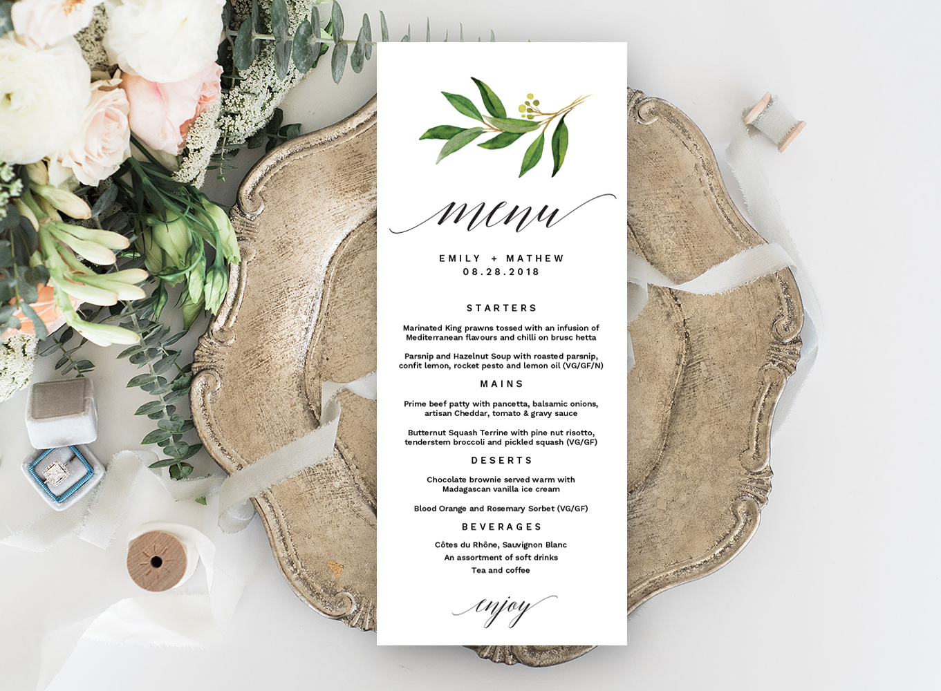 Wedding Menu Template.Wedding Menu Editable Template Free Print Templates Templates