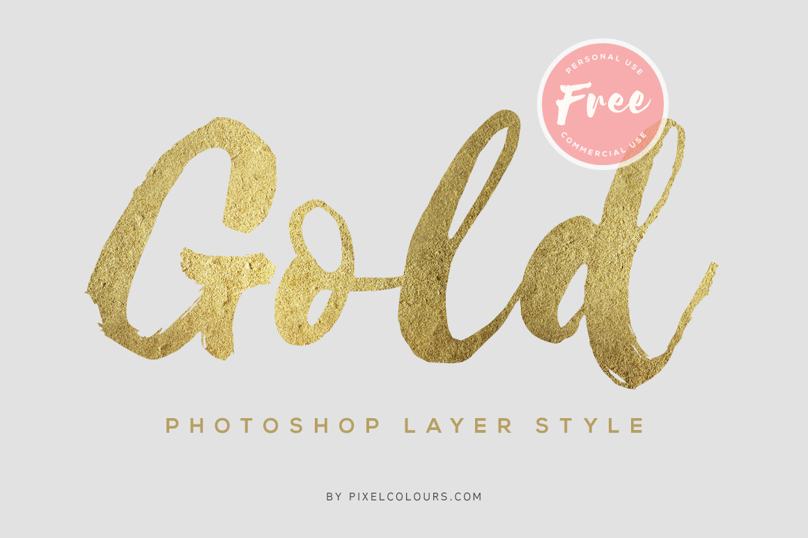 Gold Photoshop Layer Style – Free Add-ons, Layer styles
