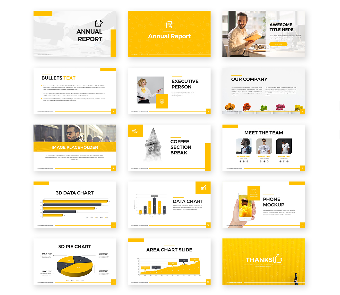 Annual Report Powerpoint Template Free Presentations