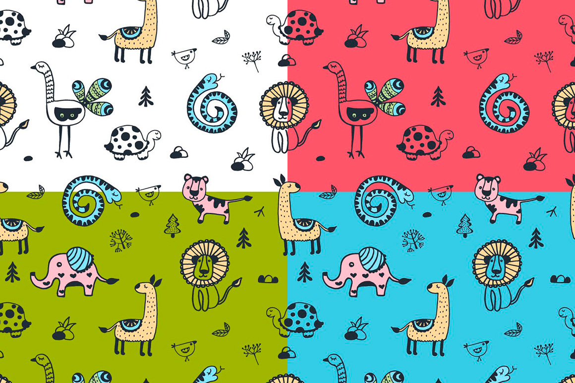 Free Animals Vector Pattern – Free Graphics, Patterns