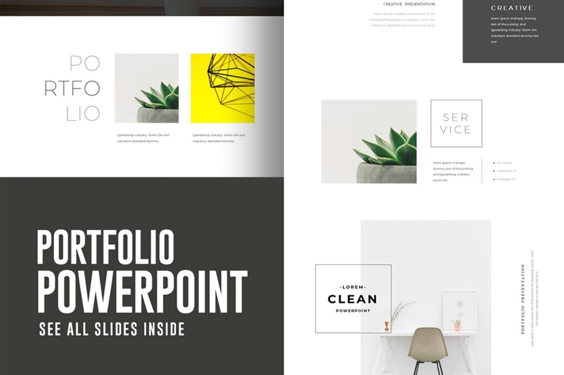 Portfolio Powerpoint Presentation Template Free Free