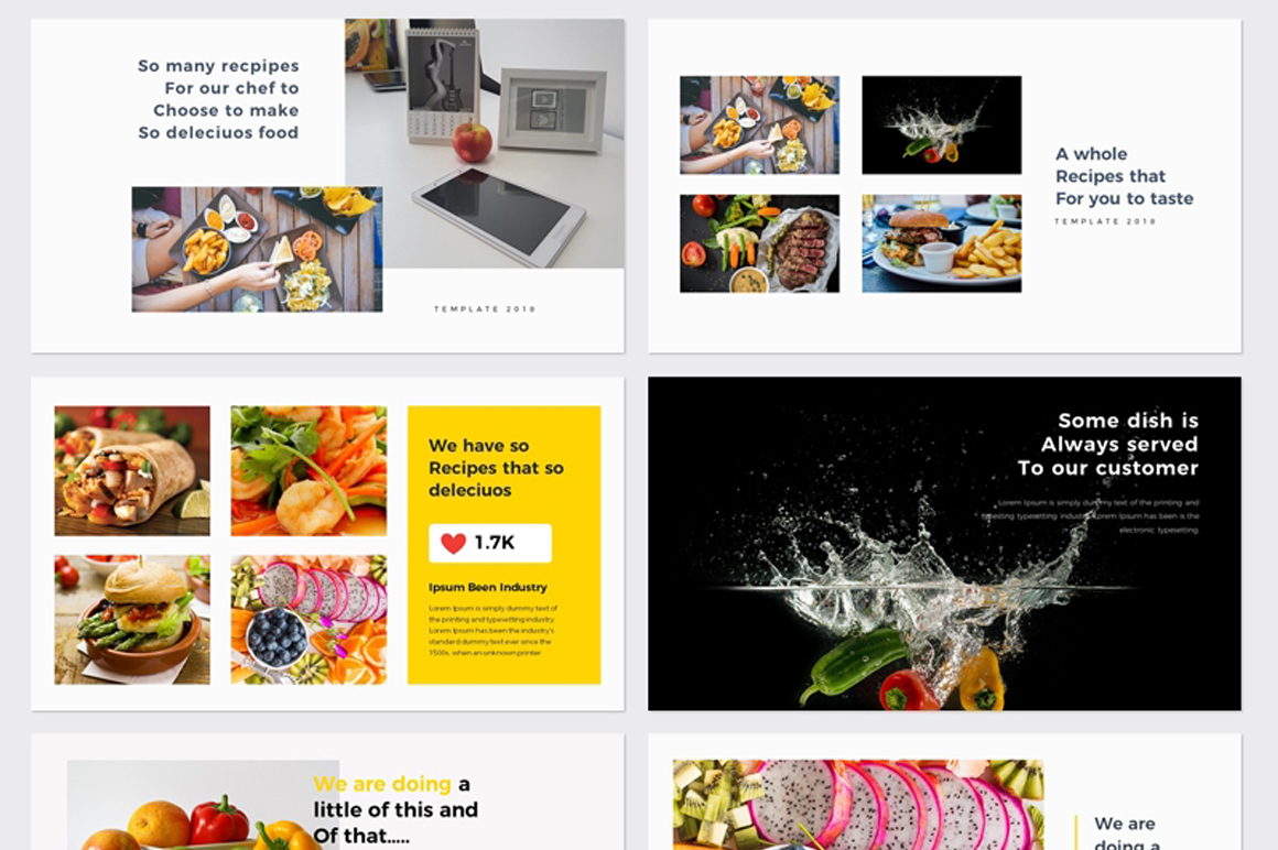 Food & Restaurant Powerpoint Presentation Free – Free