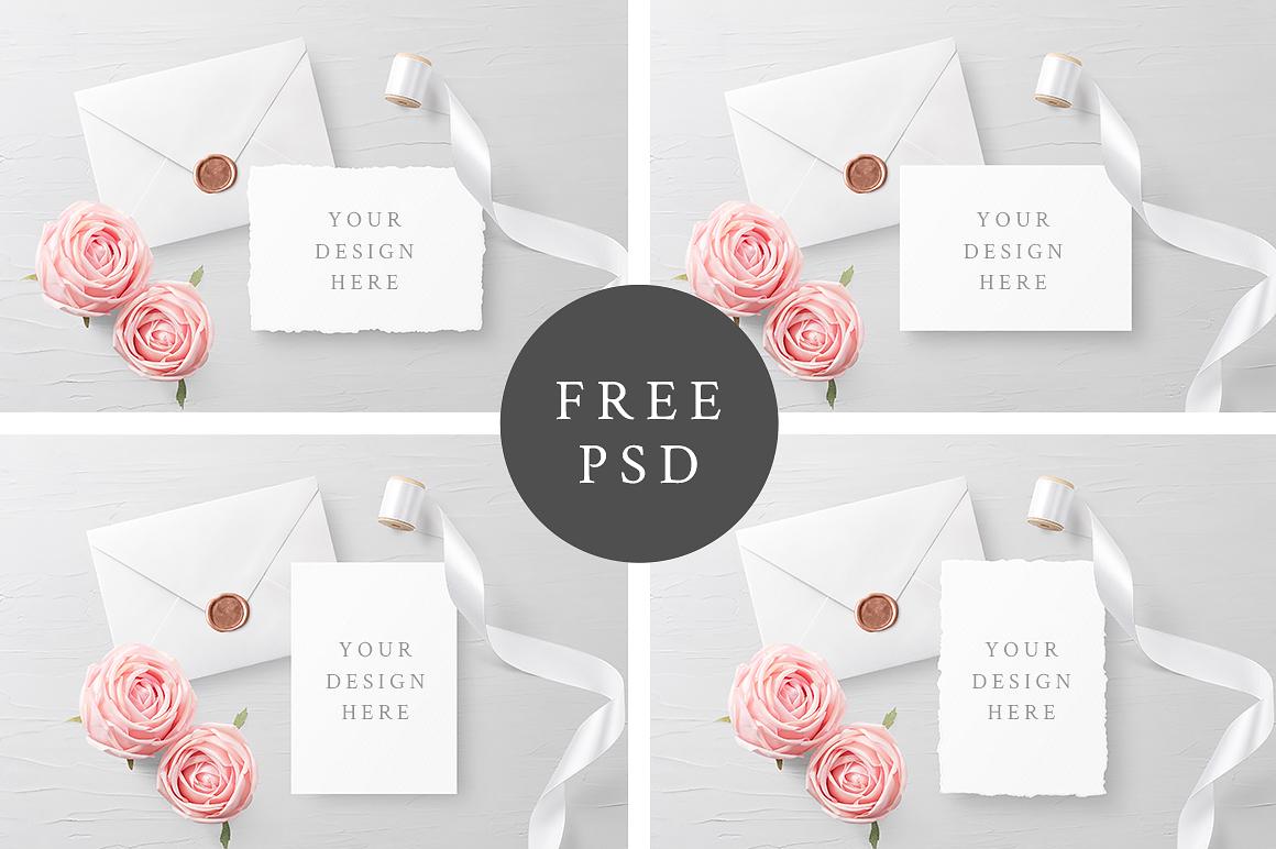 Free Customizable Invitation Card Mockups Free Mockups