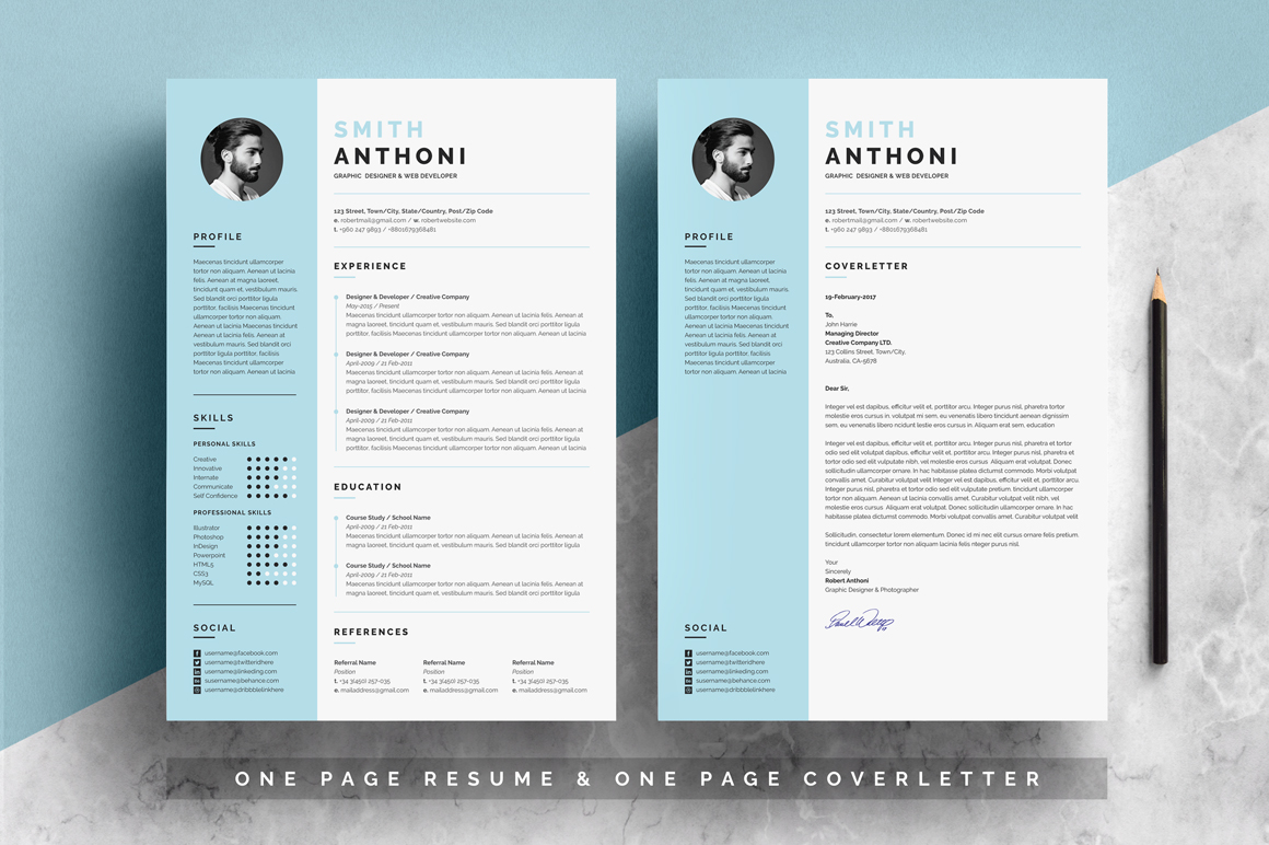 2 pages resume template  u2013 free resumes  templates