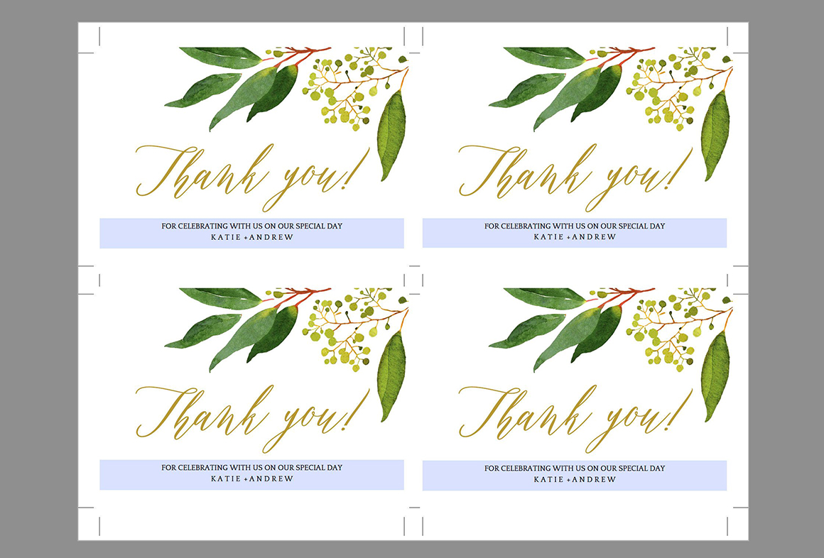 Wedding Thank You Card Editable Template Free Print Templates Templates Pixelify Net