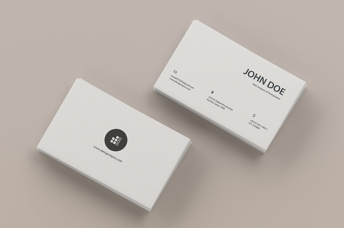 Top View Business Card Mockup Free Mockups Stationery