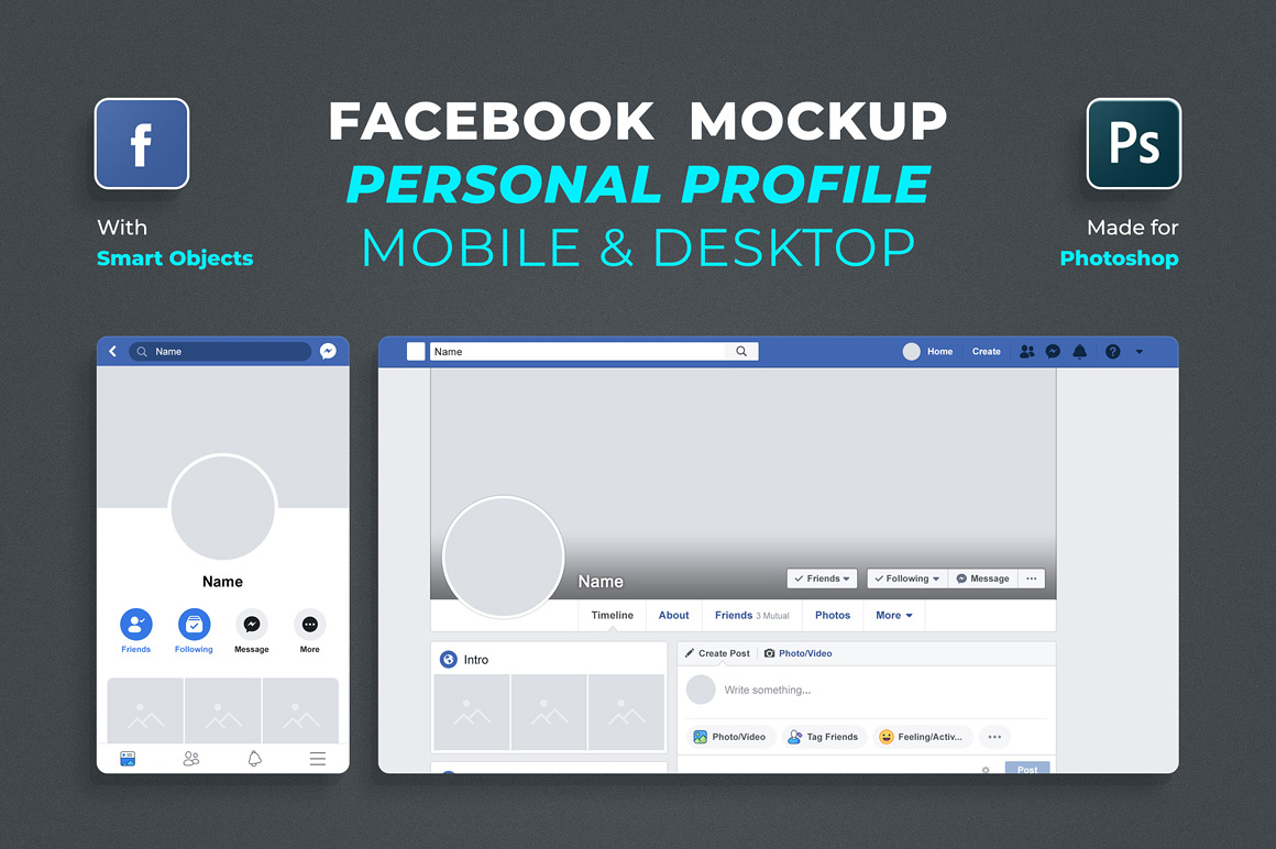Free Facebook Profile Mockup 2019 – Free Mockups, Other