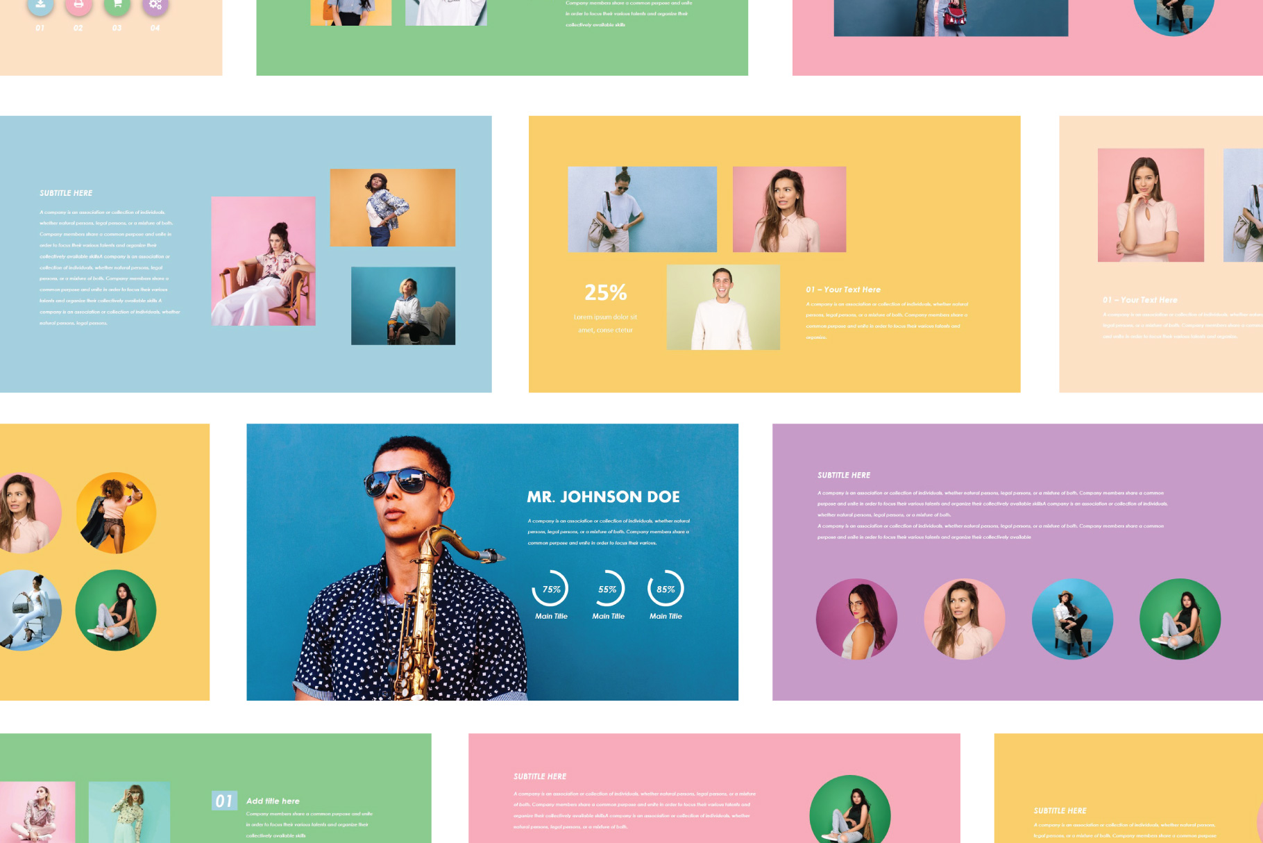 Pop Art Pastel Powerpoint Free Presentations Templates
