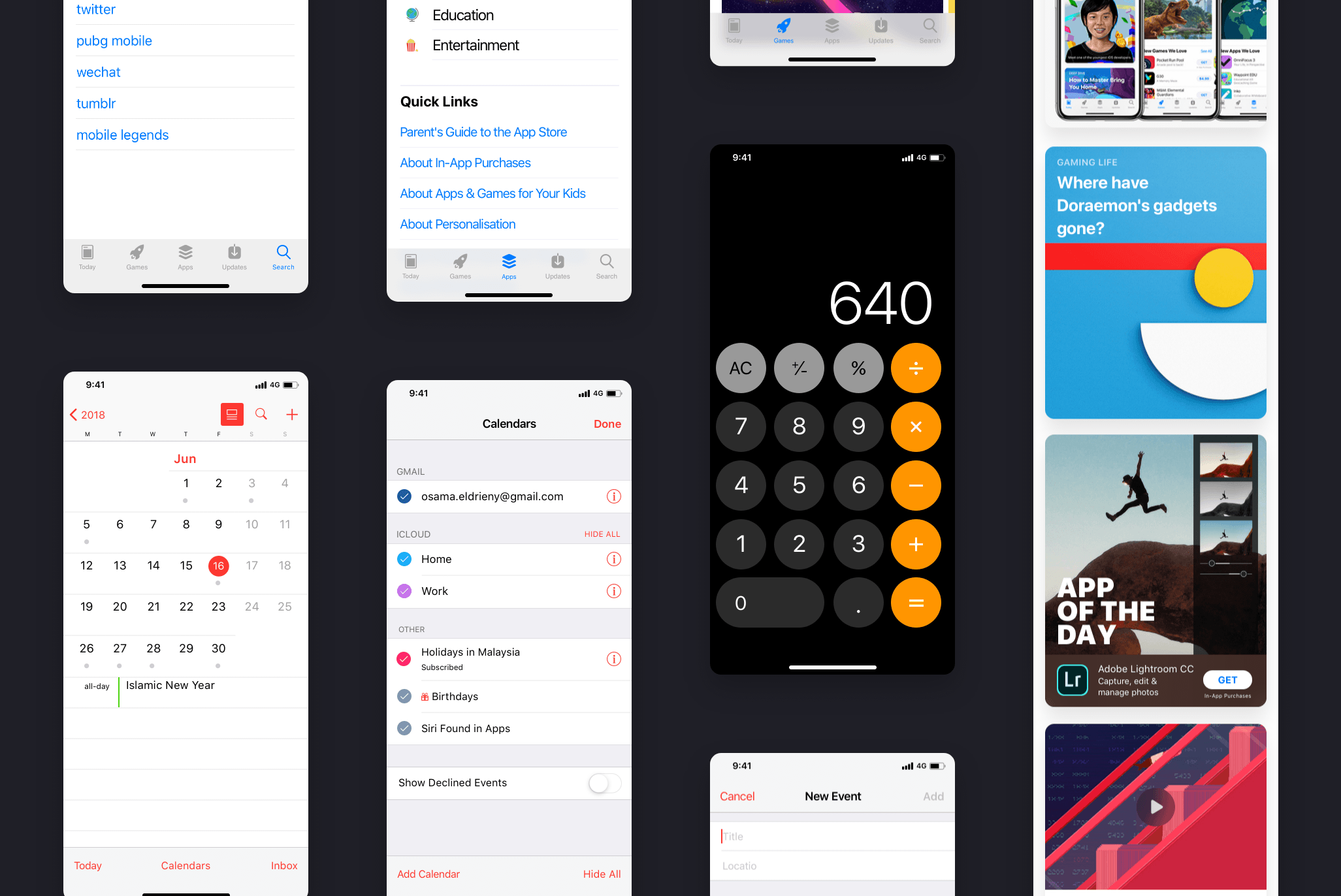 iOS12 GUI KIT – Free Templates, Ux/ui kits | pixelify net