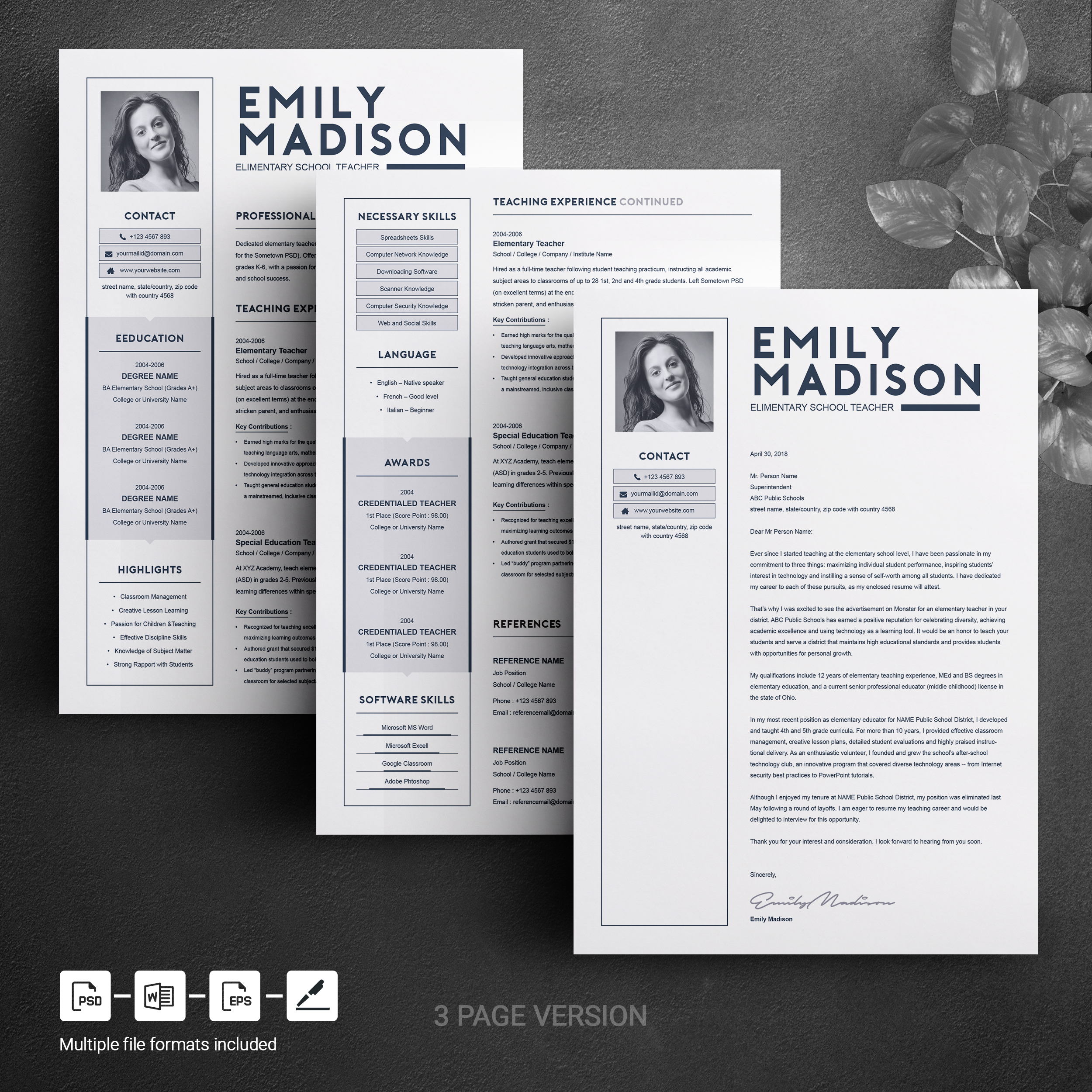 Teacher Resume Template Free from pixelify.nyc3.cdn.digitaloceanspaces.com