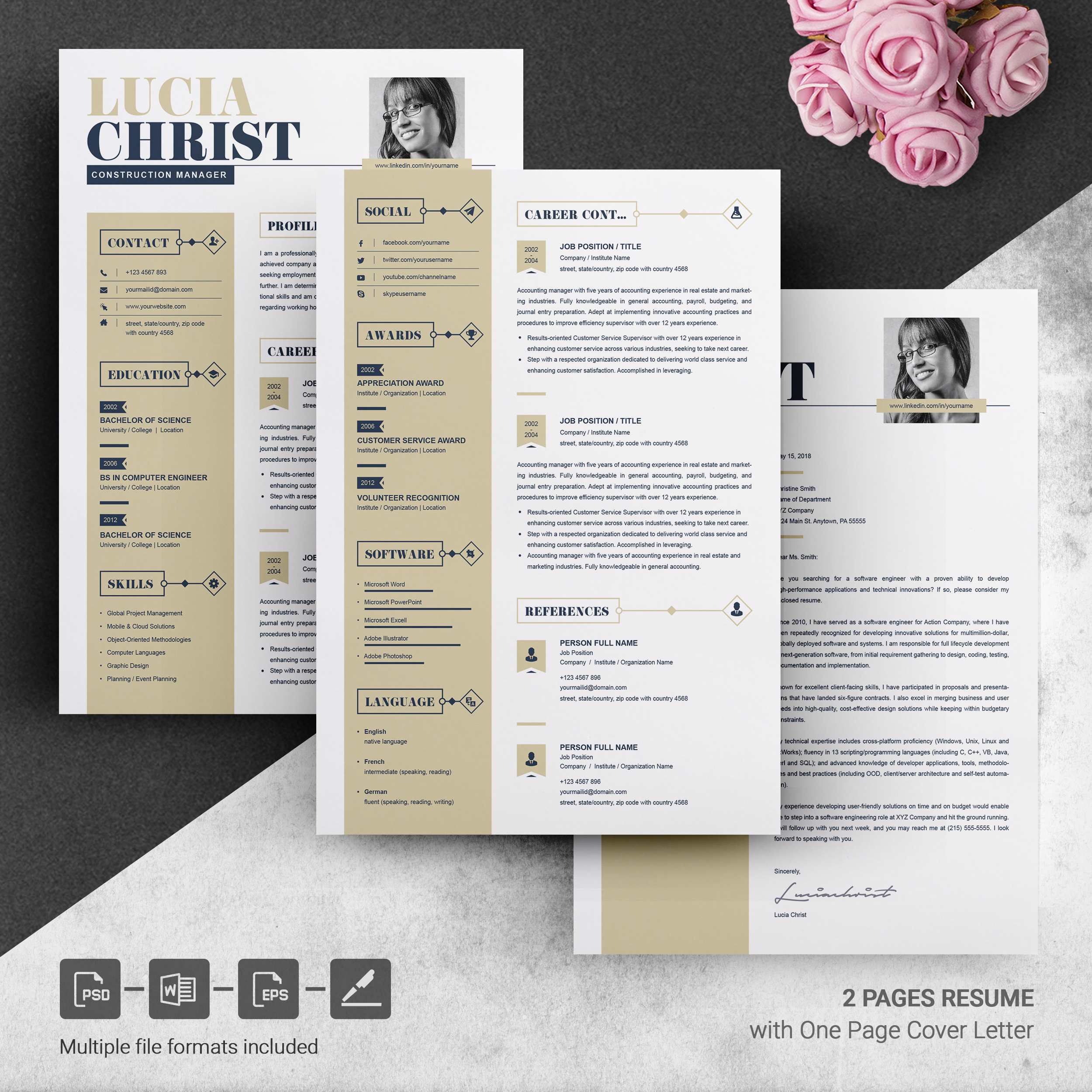 Resume Template Word Free Resumes Templates Pixelify Net