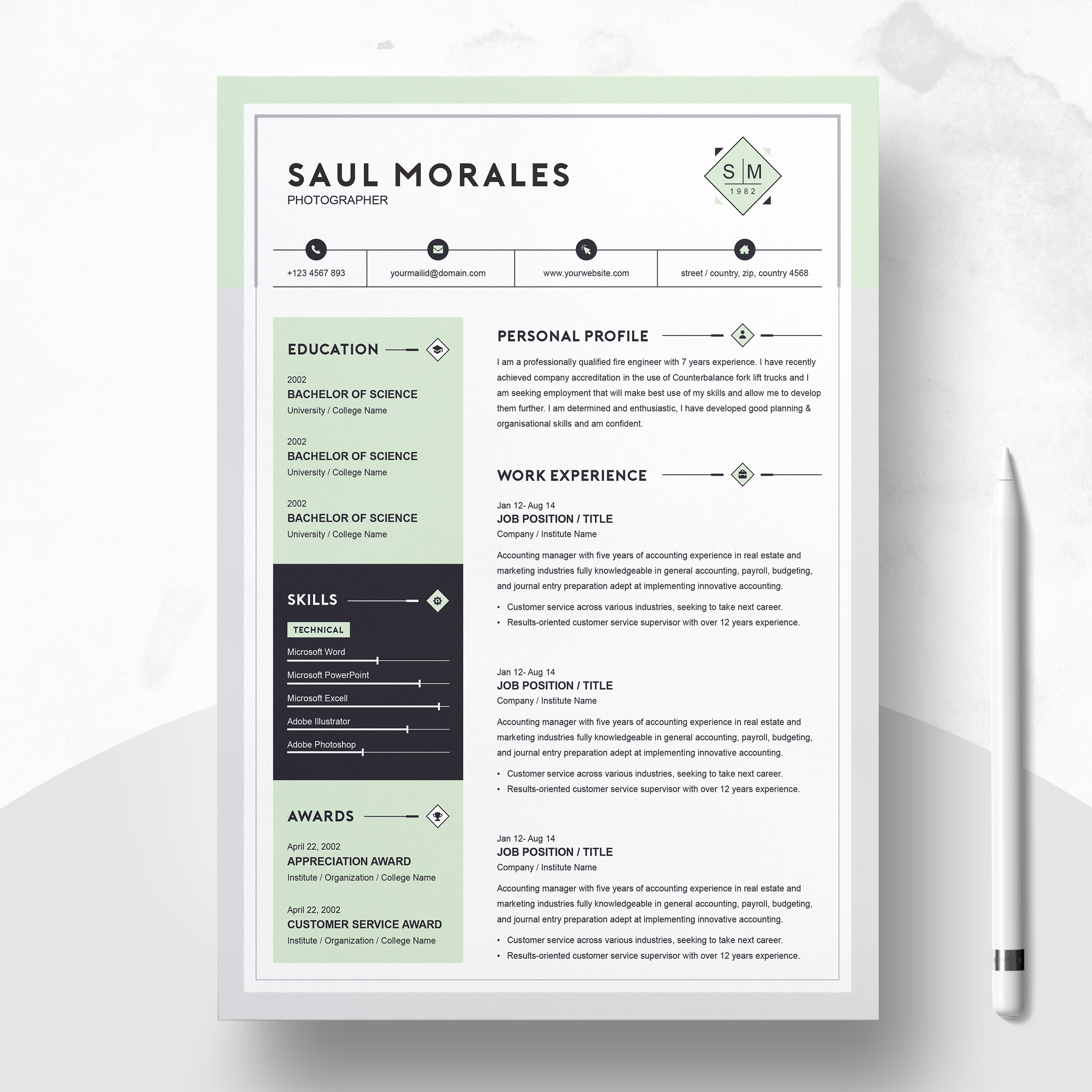 Resume Template 3 Page Cv Template Free Resumes Templates