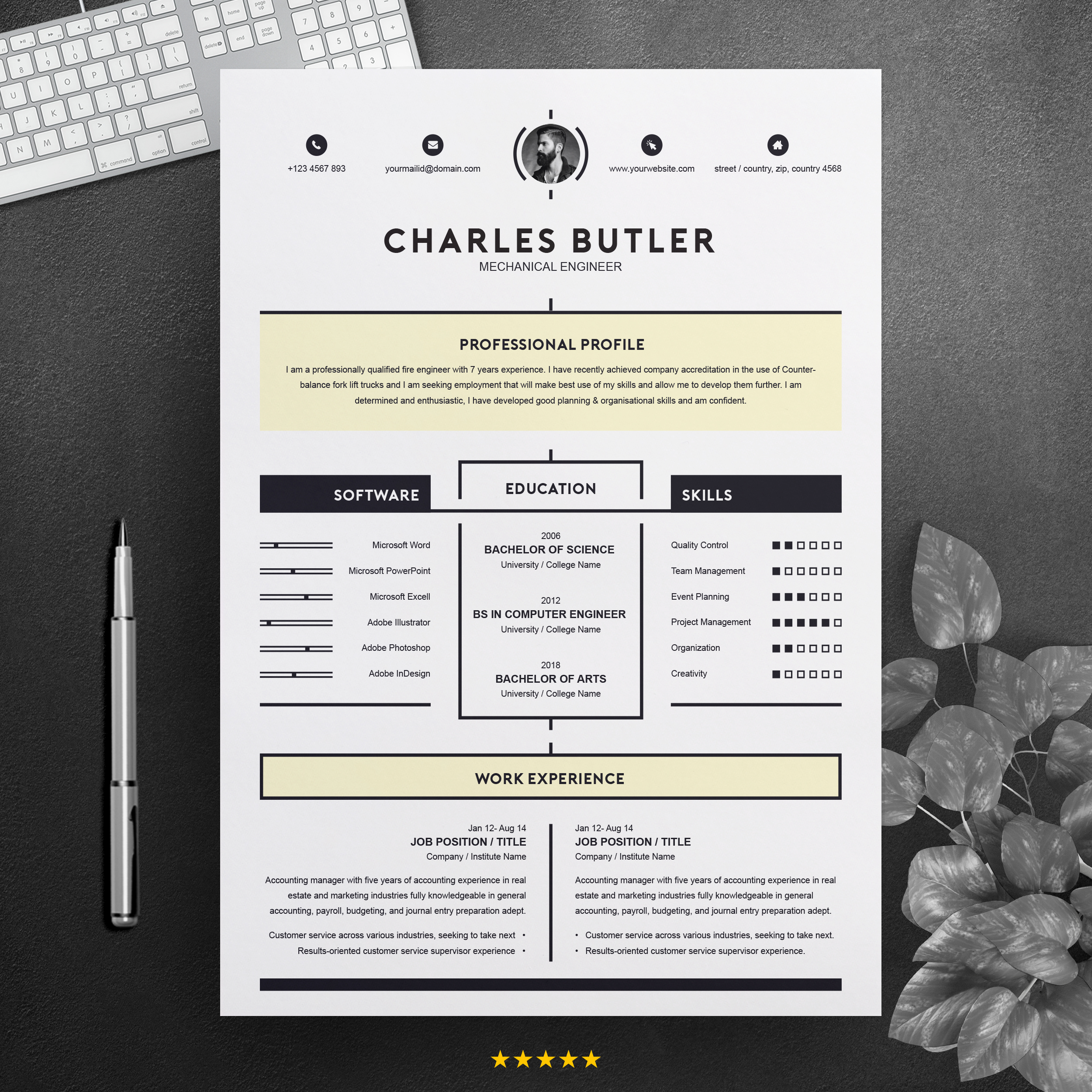 Creative Resume Template Instant Download Free Resumes