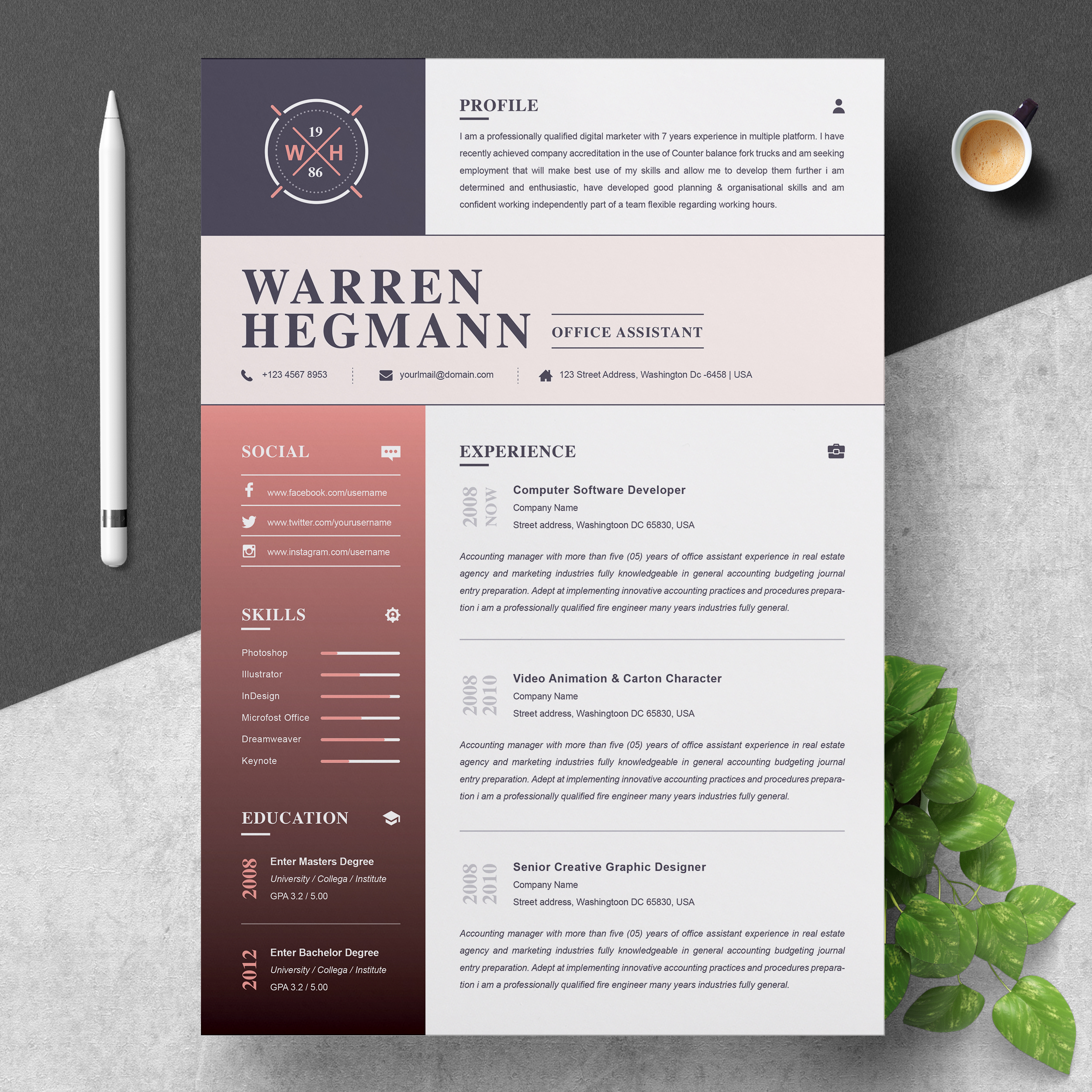8 Creative And Appropriate Resume Templates For The Non: Modern & Creative – Free Resumes