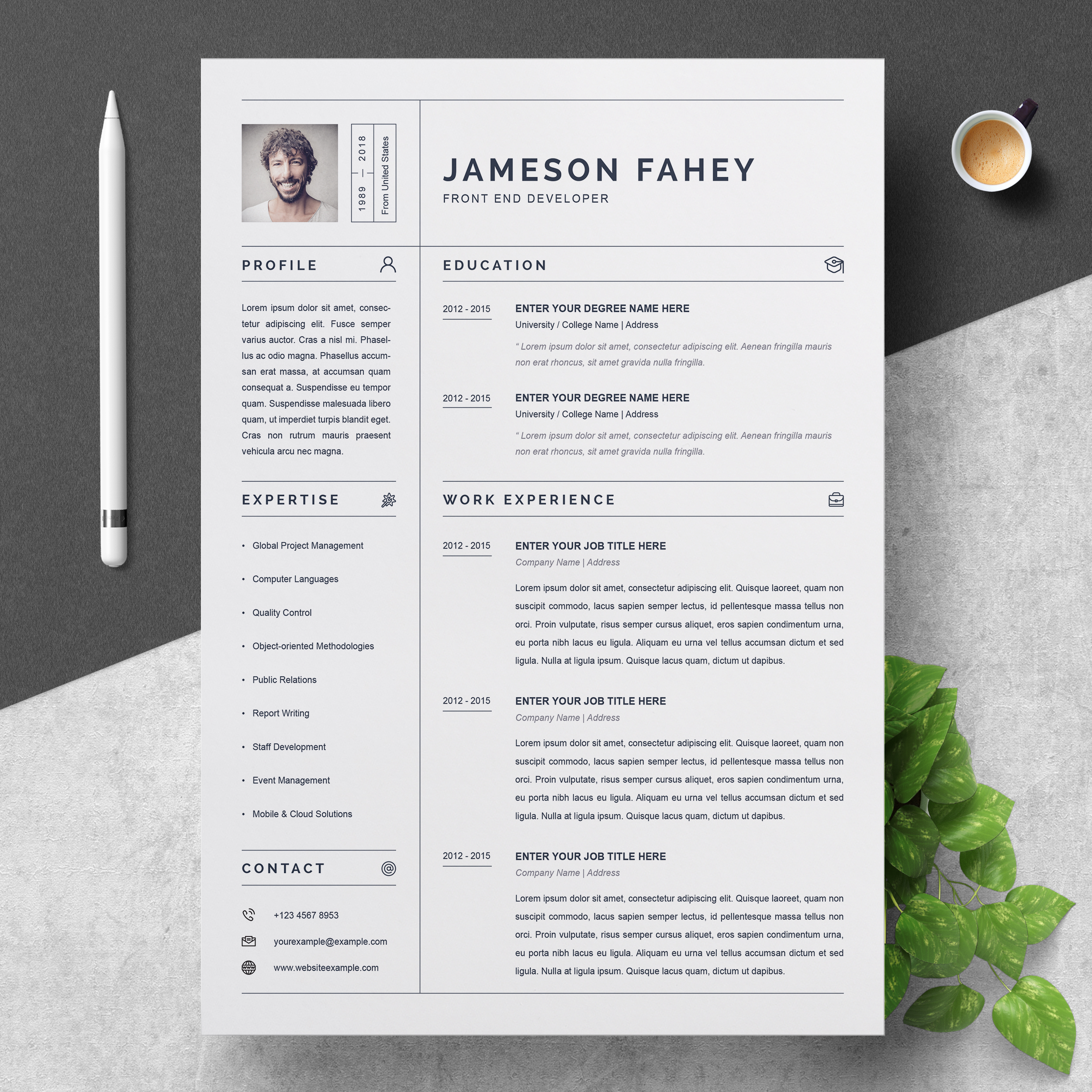 clean resume    cv template  u2013 free resumes  templates