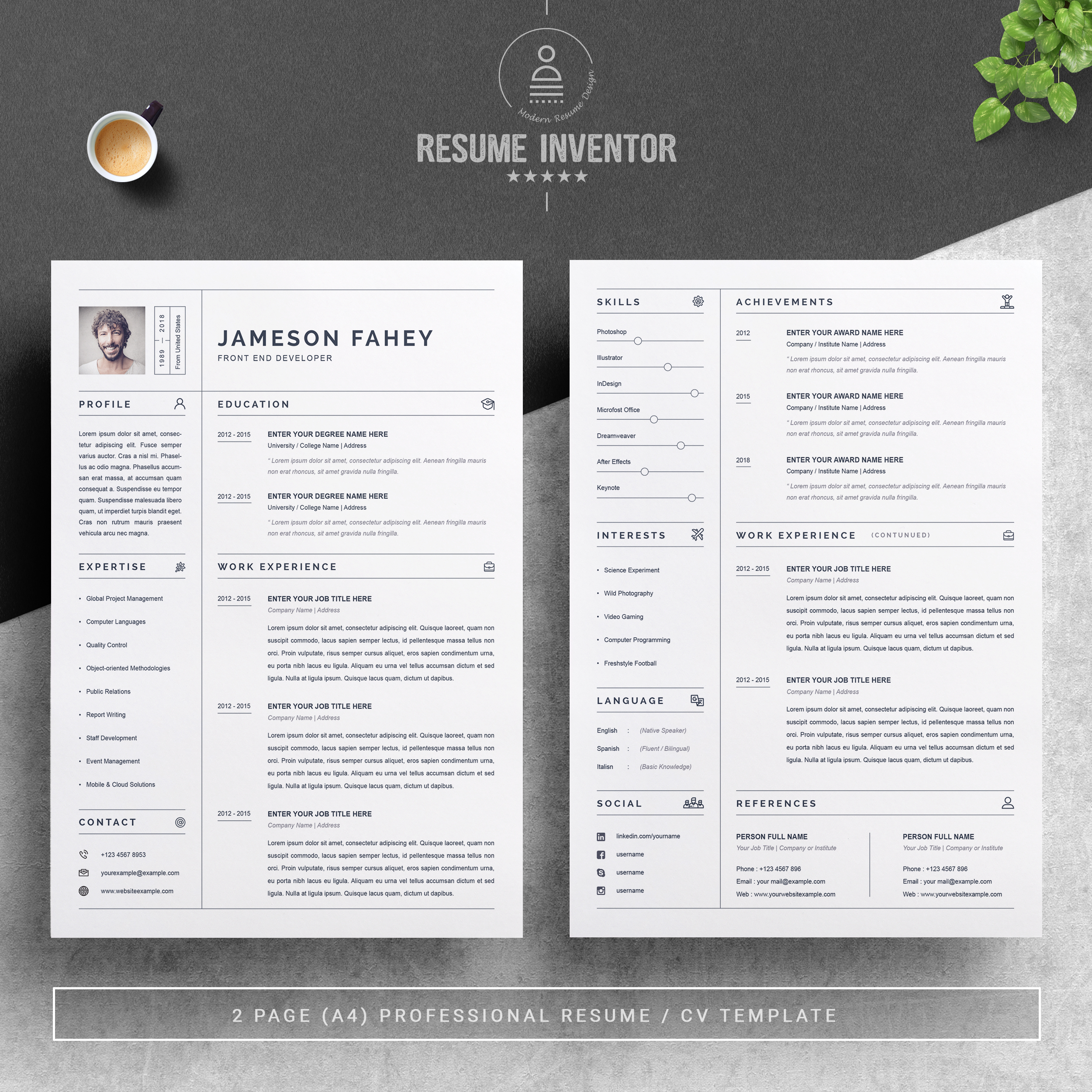 Clean Cv Template from pixelify.nyc3.cdn.digitaloceanspaces.com