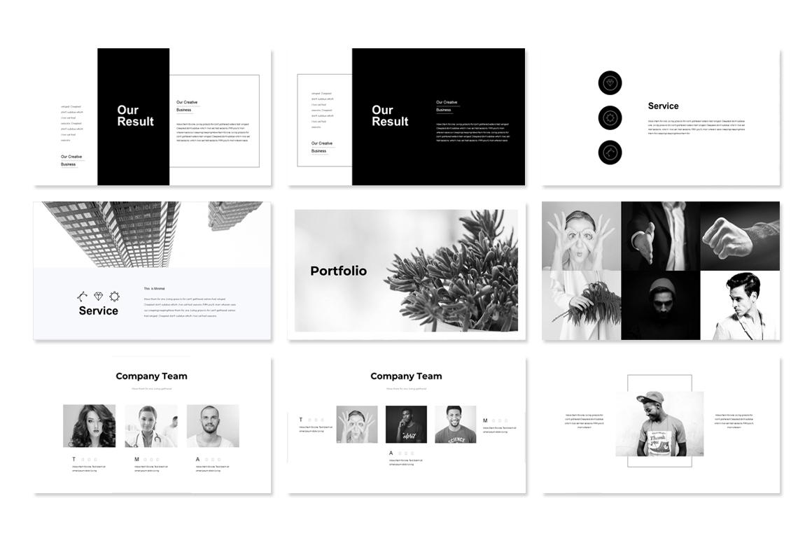 Black White Presentation Powerpoint Template Free Presentations Templates Pixelify Net