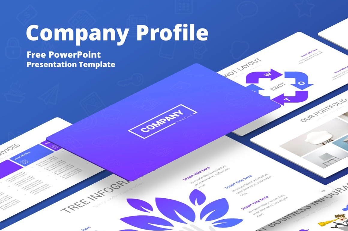 Company Profile Powerpoint Template Free Download Free Presentations Templates Pixelify Net