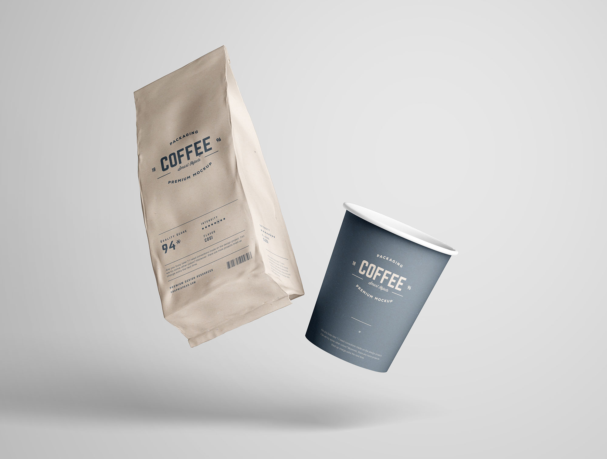 Coffee Package Mockup Free Mockups Pixelify Net