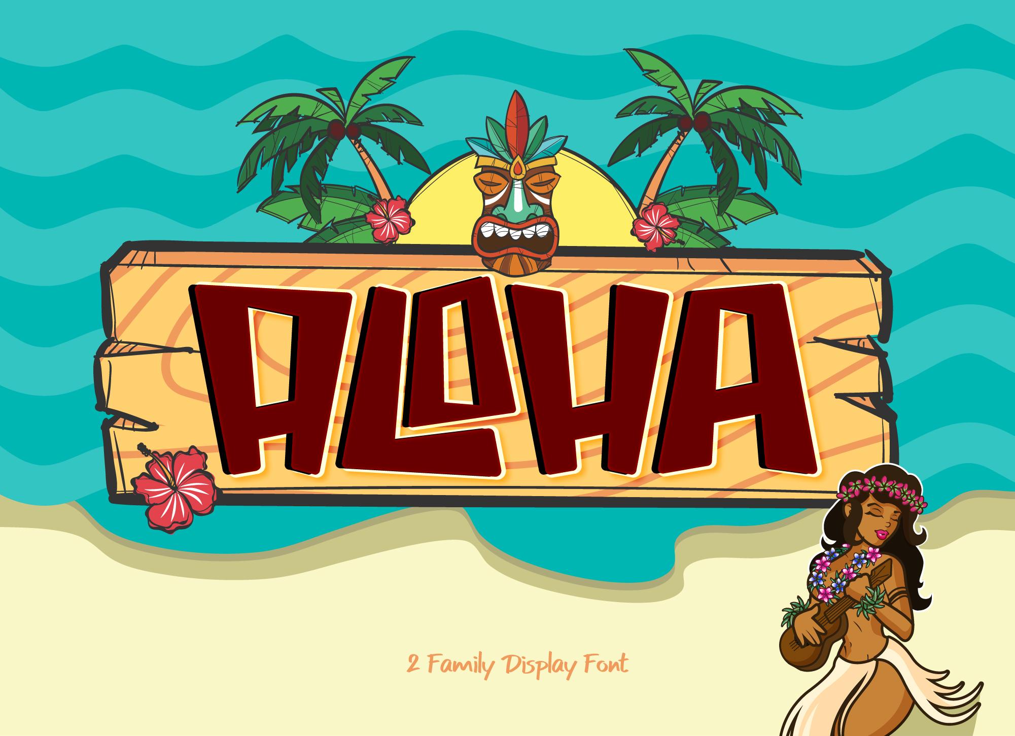 Aloha - Free Display, Fonts | pixelify.net